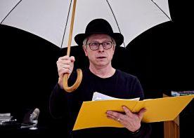 Stephen with umbrella